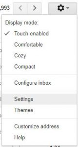 1. Settings Button