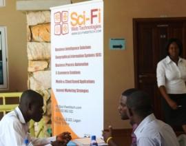Sci-Fi Web Tech Goes to Ashesi 2013 Career fair